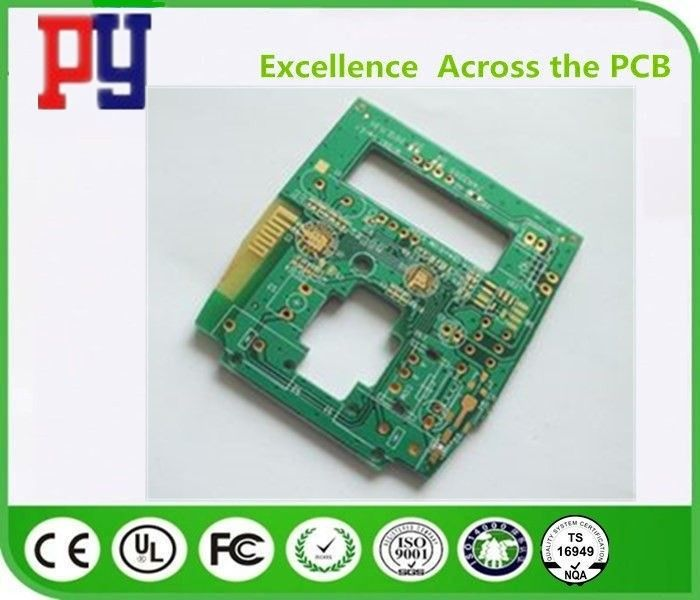 Green Solder Mask Color Single Sided PCB Board 1oz Lead Free Surface Finishing