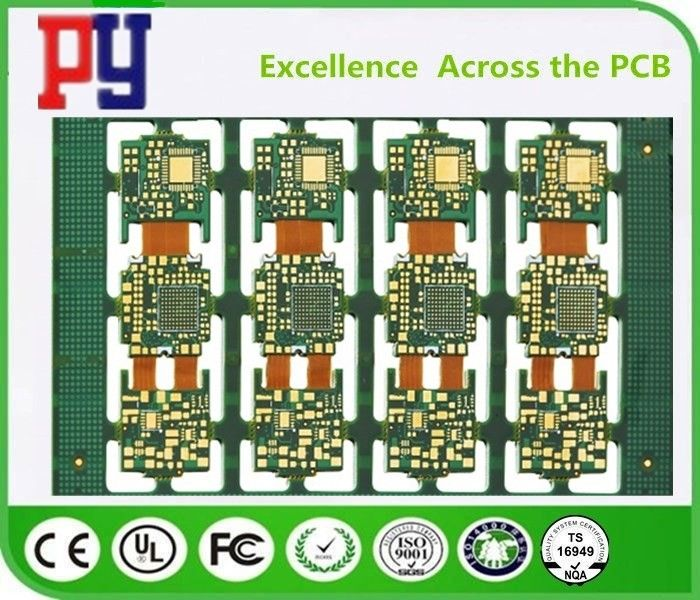 8 Layer Rigid Flex Circuit Boards , High Speed Pcb Layout With RoHs Approval