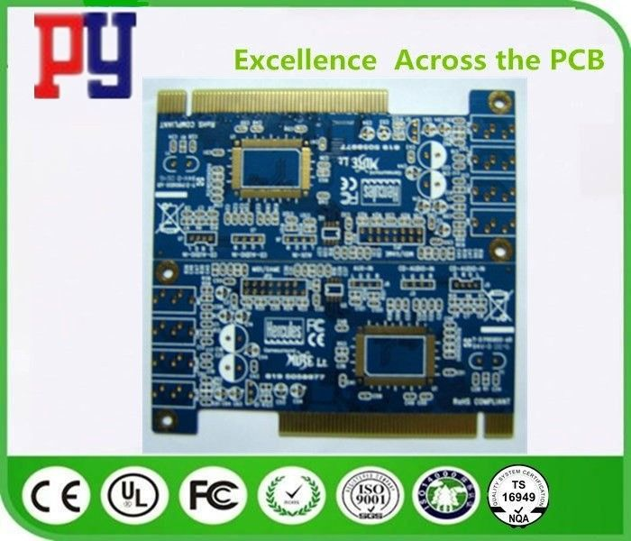Fr4 Material PCB Printed Circuit Board 1.6MM Thickness HASL Surface Treatment