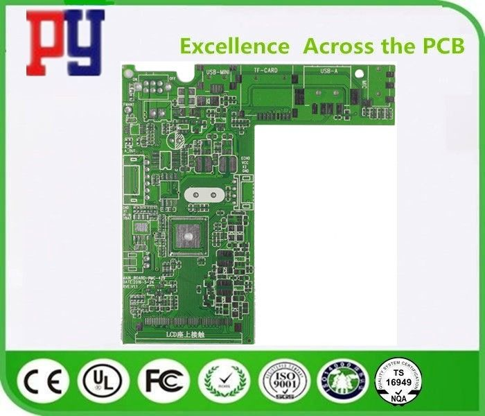 Green Solder Mask Color Double Sided PCB Board 4 Layer 1.0oz Copper Thickness
